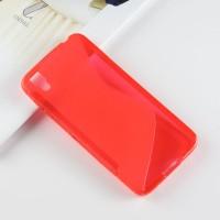 Силиконовый матовый полупрозрачный чехол с дизайнерской текстурой S для Alcatel Idol 4/BlackBerry DTEK50 Красный