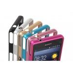 Металлический округлый бампер на пряжке для Sony Xperia Z1 Compact