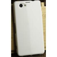Силиконовый глянцевый непрозрачный чехол для Sony Xperia Z1 Compact Белый