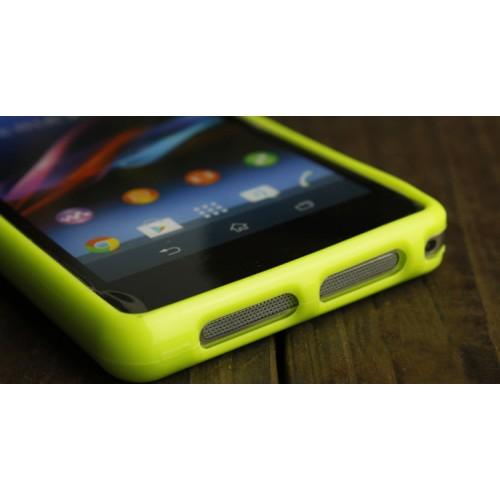 Силиконовый глянцевый непрозрачный чехол для Sony Xperia Z1 Compact
