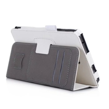 Чехол книжка подставка с рамочной защитой экрана, крепежом для стилуса, отсеком для карт и поддержкой кисти для Samsung Galaxy Tab A 7 (2016)