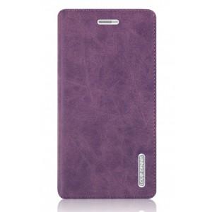 Винтажный чехол горизонтальная книжка подставка на пластиковой основе с отсеком для карт на присосках для Huawei GR3 Фиолетовый
