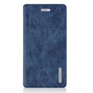 Винтажный чехол горизонтальная книжка подставка на пластиковой основе с отсеком для карт на присосках для Huawei GR3 Синий