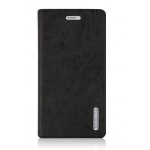 Винтажный чехол горизонтальная книжка подставка на пластиковой основе с отсеком для карт на присосках для Huawei GR3 Черный