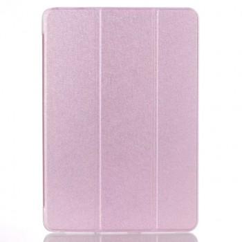 Сегментарный чехол книжка подставка на транспарентной поликарбонатной основе для Samsung Galaxy Tab A 10.1 (2016)  Розовый
