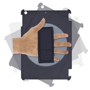 Сегментарный чехол книжка подставка на непрозрачной поликарбонатной основе с поддержкой кисти для Ipad Air
