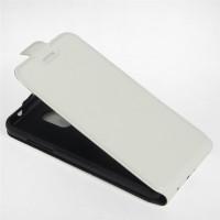 Чехол вертикальная книжка на силиконовой основе с отсеком для карт на магнитной защелке для ZTE Blade V7 Lite Белый