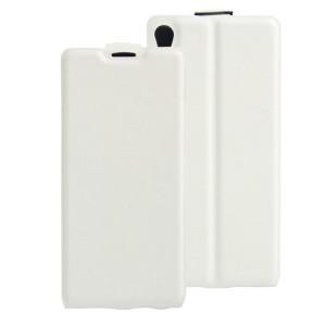Чехол вертикальная книжка на силиконовой основе с отсеком для карт на магнитной защелке для Sony Xperia XA Белый