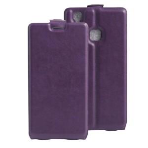 Чехол вертикальная книжка на силиконовой основе с отсеком для карт на магнитной защелке для Doogee X5 Max  Фиолетовый