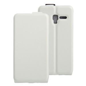 Чехол вертикальная книжка на силиконовой основе с отсеком для карт на магнитной защелке для Alcatel One Touch POP 3 5 Белый