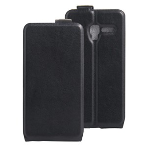 Чехол вертикальная книжка на силиконовой основе с отсеком для карт на магнитной защелке для Alcatel One Touch POP 3 5 Черный