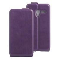 Чехол вертикальная книжка на силиконовой основе с отсеком для карт на магнитной защелке для Alcatel One Touch POP 3 5 Фиолетовый