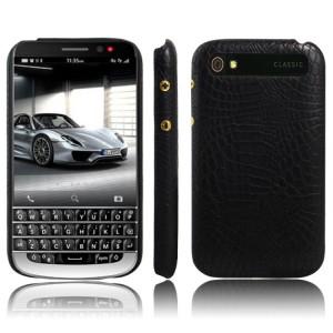 Чехол накладка текстурная отделка Кожа для Blackberry Classic  Черный
