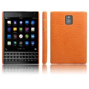 Чехол накладка текстурная отделка Кожа для BlackBerry Passport