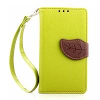 Чехол портмоне подставка на силиконовой основе на дизайнерской магнитной защелке для Sony Xperia Z1 Compact  Зеленый