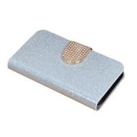 Чехол горизонтальная книжка подставка на силиконовой основе с отсеком для карт на дизайнерской магнитной защелке для Wileyfox Swift  Белый