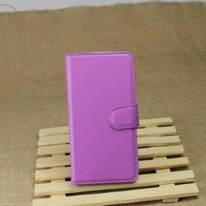 Чехол портмоне подставка на магнитной защелке и отсеком для карт для Google LG Nexus 5 Фиолетовый