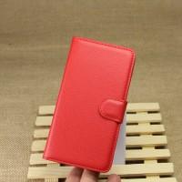 Чехол портмоне подставка на магнитной защелке и отсеком для карт для Google LG Nexus 5 Красный