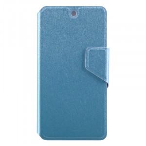 Чехол горизонтальная книжка подставка на пластиковой основе с отсеком для карт и текстурным покрытием на магнитной защелке для Google LG Nexus 5 Голубой