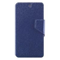 Чехол горизонтальная книжка подставка на пластиковой основе с отсеком для карт и текстурным покрытием на магнитной защелке для Google LG Nexus 5  Синий