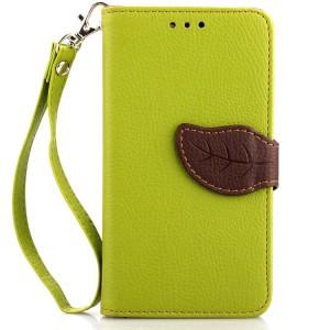 Чехол портмоне подставка на силиконовой основе на дизайнерской магнитной защелке для Google LG Nexus 5  Зеленый
