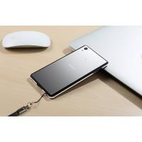 Металлический округлый бампер сборного типа на винтах для Sony Xperia Z5  Черный