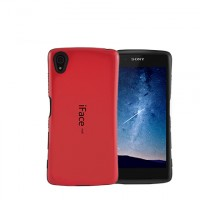 Силиконовый глянцевый непрозрачный эргономичный чехол с нескользящими гранями для Sony Xperia Z5 Красный