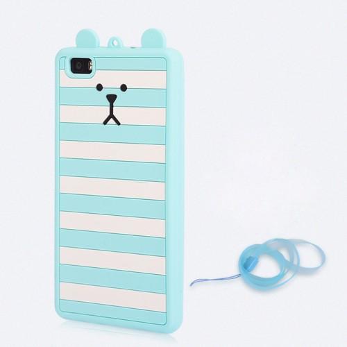 Силиконовый матовый непрозрачный дизайнерский фигурный чехол для Huawei P8 Lite