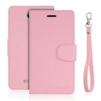 Чехол горизонтальная книжка подставка на силиконовой основе с отсеком для карт на магнитной защелке для Xiaomi RedMi Note 2 Розовый