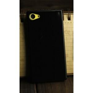 Силиконовый глянцевый непрозрачный чехол для Sony Xperia Z5 Compact  Черный