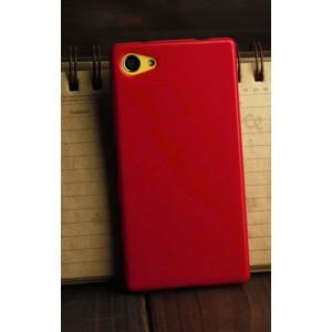 Силиконовый глянцевый непрозрачный чехол для Sony Xperia Z5 Compact  Красный