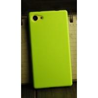 Силиконовый глянцевый непрозрачный чехол для Sony Xperia Z5 Compact  Зеленый
