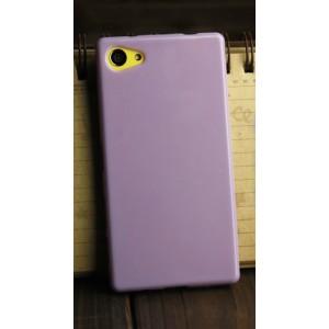 Силиконовый глянцевый непрозрачный чехол для Sony Xperia Z5 Compact  Фиолетовый
