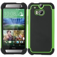 Силиконовый матовый непрозрачный дизайнерский фигурный чехол для HTC One (M8) Зеленый