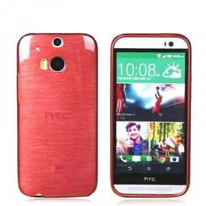 Силиконовый глянцевый непрозрачный Металлик чехол для HTC One (M8)
