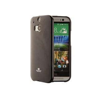 Силиконовый глянцевый непрозрачный чехол для HTC One (M8)