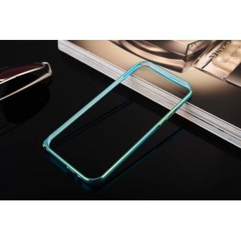 Металлический округлый бампер на пряжке с золотой окантовкой для HTC One (M8)