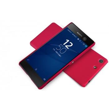 Пластиковый непрозрачный матовый нескользящий премиум чехол для Sony Xperia M5