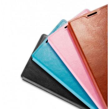 Глянцевый водоотталкивающий чехол горизонтальная книжка подставка на силиконовой основе на магнитной защелке для Sony Xperia M5
