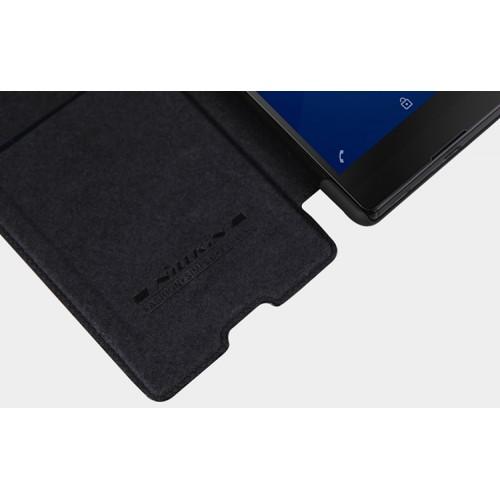 Винтажный чехол горизонтальная книжка на пластиковой основе с текстурным покрытием Кожа для Sony Xperia M5