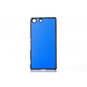 Пластиковый непрозрачный матовый чехол с текстурным покрытием Металл для Sony Xperia M5