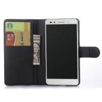 Чехол портмоне подставка на пластиковой основе на магнитной защелке для Huawei Honor 7 Черный