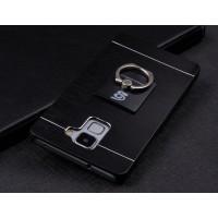 Пластиковый непрозрачный матовый чехол с текстурным покрытием Металл для Huawei Honor 7  Черный