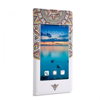 Чехол горизонтальная книжка подставка с окном вызова на пластиковой основе для Huawei Honor 7