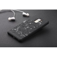 Силиконовый матовый непрозрачный чехол с текстурным покрытием Дракон для Huawei Honor 7  Черный