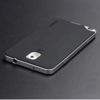 Двухкомпонентный силиконовый матовый непрозрачный чехол с поликарбонатным бампером для Samsung Galaxy Note 3 Серый