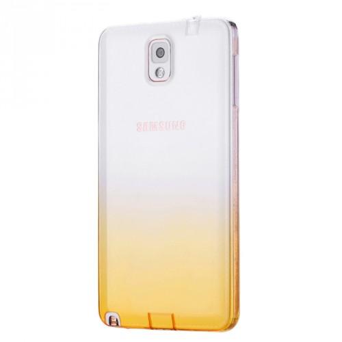 Силиконовый глянцевый полупрозрачный градиентный чехол для Samsung Galaxy Note 3