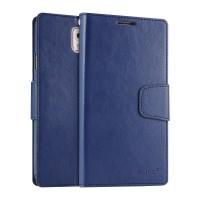 Чехол портмоне подставка на силиконовой основе на магнитной защелке для Samsung Galaxy Note 3  Синий