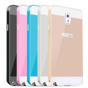 Двухкомпонентный чехол c металлическим бампером с поликарбонатной двухцветной накладкой для Samsung Galaxy Note 3