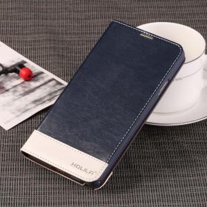 Глянцевый водоотталкивающий чехол портмоне подставка на пластиковой основе для Samsung Galaxy Note 3  Синий
